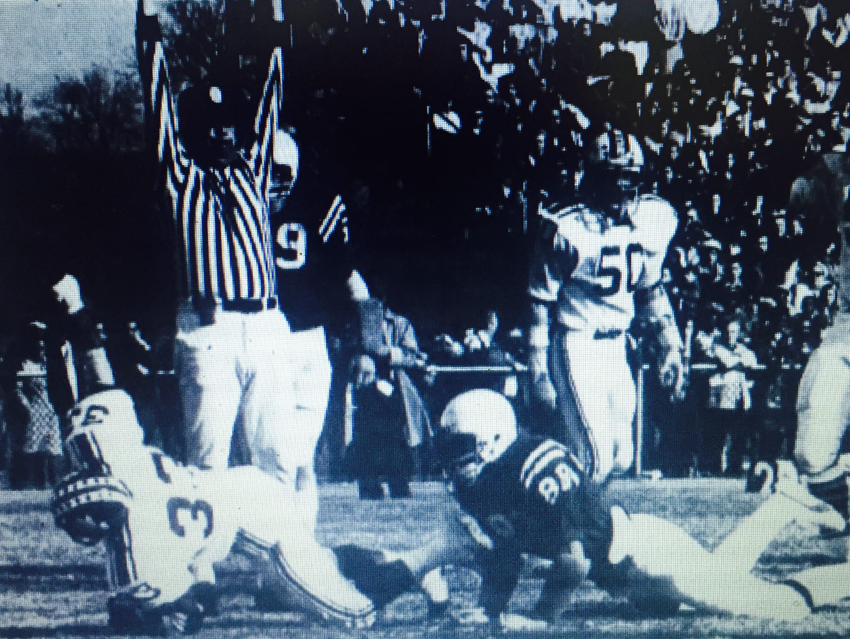 Red Bank's Tim Johnson (33, on ground) scores a touchdown for the Bucs in theri 46-44 win over Hightstown in the Central Jersey Group II title game in 1975.