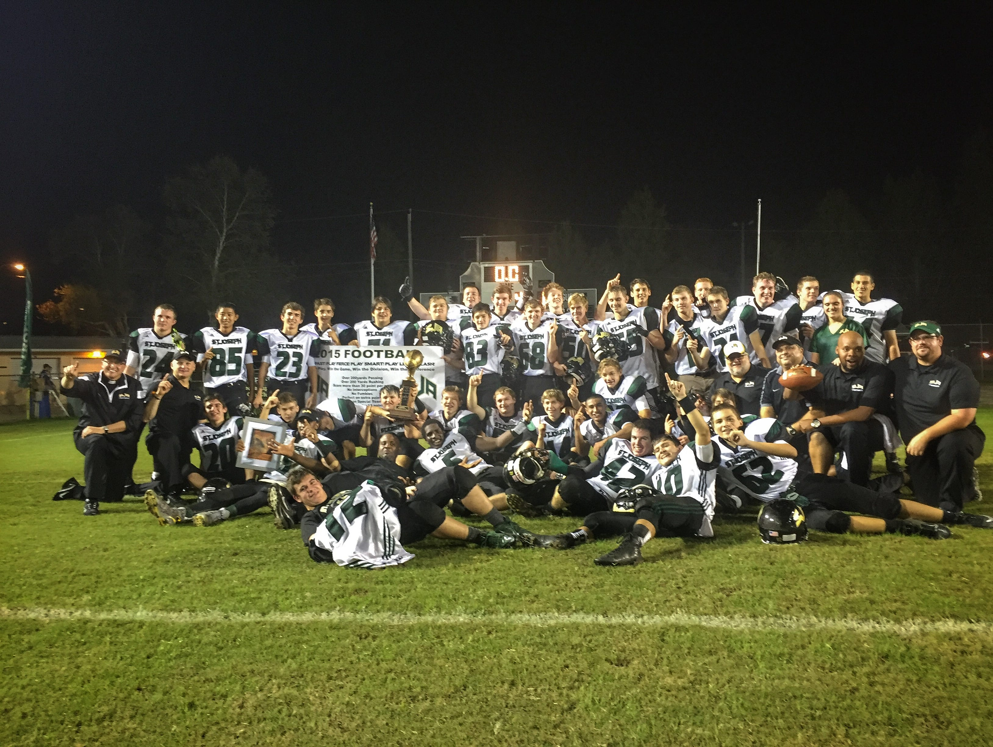 St. Joseph Academy capped a perfect 10-0 season with an NFFC title on Thursday night, beating John Paul II, 10-0.