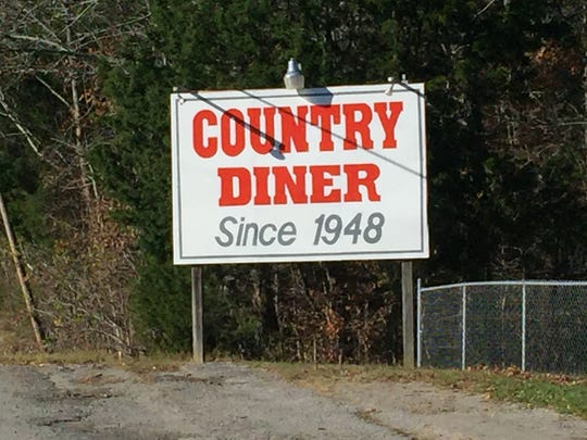 The Country Diner, since 1948, is located on Highway