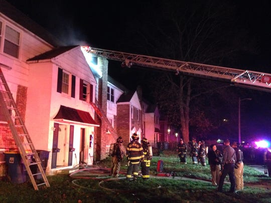 Crews respond to a structure fire early Sunday in the 600 block of Homestead Road in Wimington.