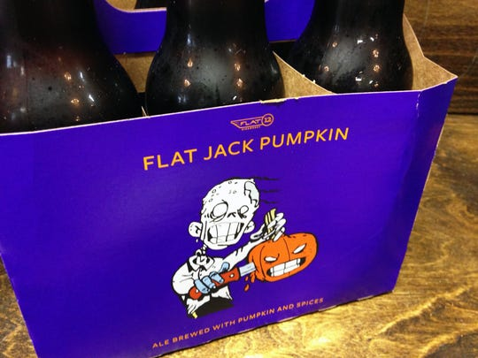 A six-pack of Flat Jack Pumpkin from Flat12 Bierwerks.