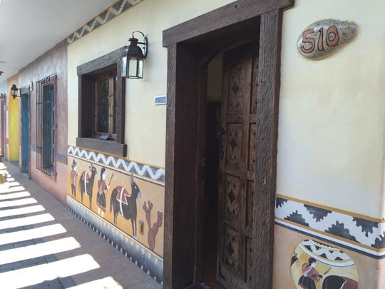 In 2003, artist Alejandro Olmo was commissioned to design a corridor at 515 N. Palm Canyon Drive in Palm Springs similar to those found in the Mexican village of San Miguel de Allende. Nov. 16, 2015.