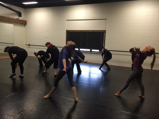 "Springfield Dance Alliance performers rehearse the weekend before their fall concert, ""Harvest,"" taking place Nov. 21 and 22 at Wilhoit Theatre on Drury University's campus."