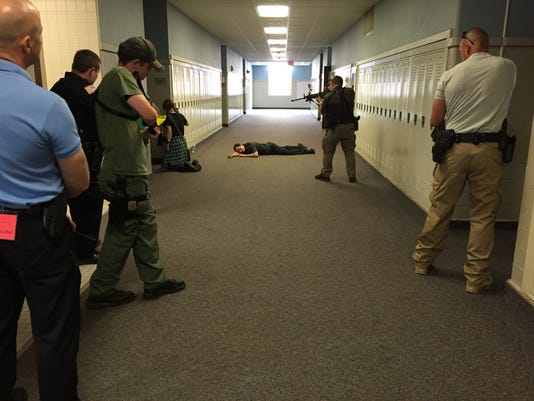 Emergency drill at Richmond High School