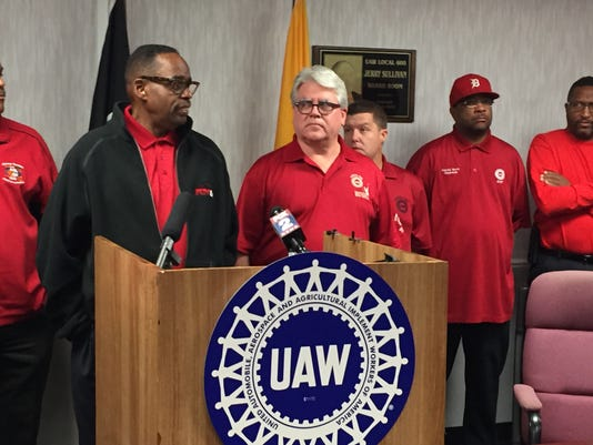 UAW VP Jimmy Settles and UAW Local President Bernie Ricke