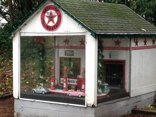 The Texaco filling station of Tiny World in Shippensburg
