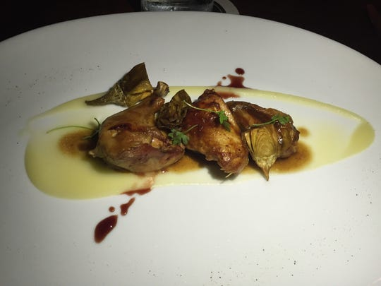 The Poussin Confit from SO.PA at the L'Horizon Hotel in Palm Springs.