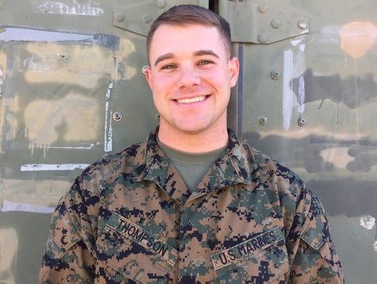Marine Corps Sgt. Christopher Thompson, 24, Tulsa.