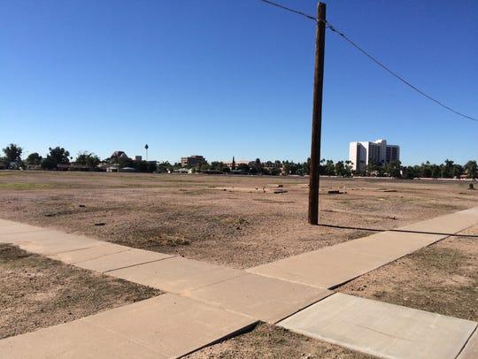 A large swath of undeveloped property near the southwestern