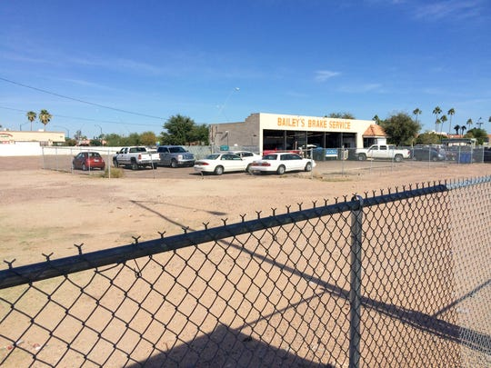 Bailey's Brake Service is largely surrounded by vacant