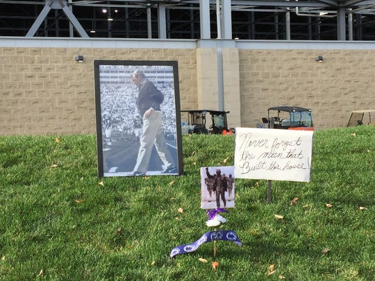 A Joe Paterno memorial on Nov. 21, 2015, at State College, Pa.