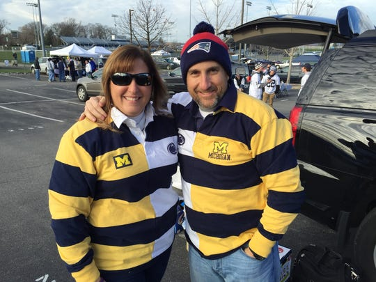 Andrea and Roger Tougas on Nov. 21, 2015, at State College, Pa.
