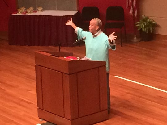 Nikki Giovanni was the keynote speaker at Fall Fest at Indianapolis' Central Library in 2015.