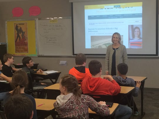 Lauri Waldner, a counselor at West Noblesville Middle School, co-teaches classes daily.