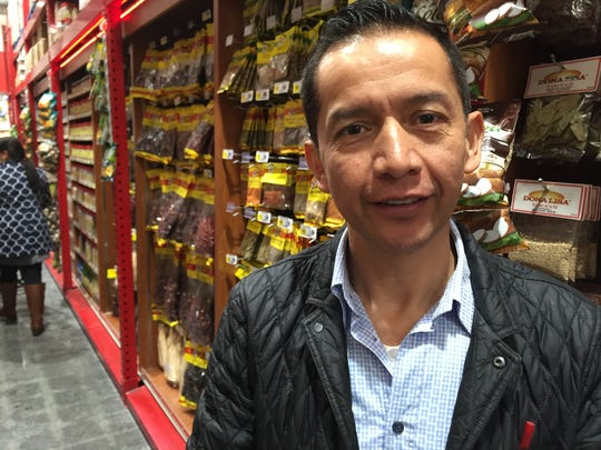 Osvaldo Carrera, manager and co-owner of Food Fair supermarket in Spring Valley, in the international-spice aisle that stretches 52 feet in the newly opened store on Route 59 in Spring Valley. Carrera said Food Fair, a hybrid traditional market and bulk warehouse, draws customers from New City, Nyack, Suffern and beyond, representing cultures from Central and South America, Russia and Poland.