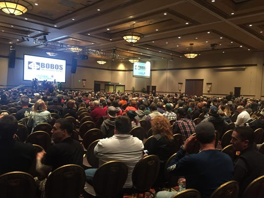 """Around 2,000 people attended the Warren Miller """"Chasing Shadows"""" screening."""