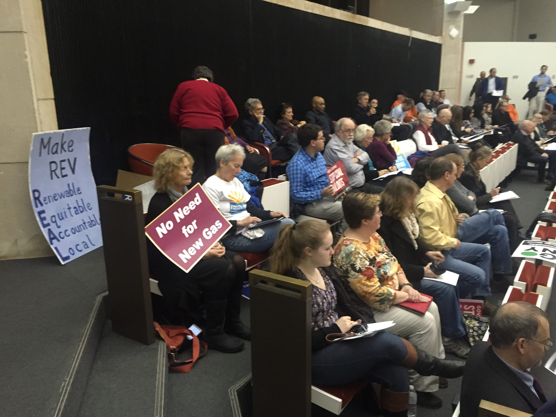 A hearing on Reforming Energy Vision drew about 100