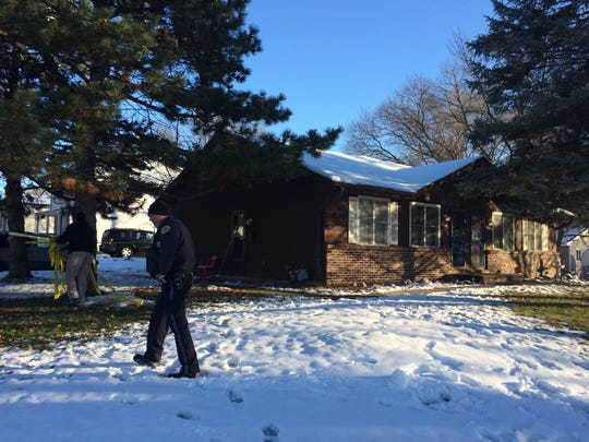 This is the house where Des Moines police said two people were killed Sunday, Nov. 22, 2015.