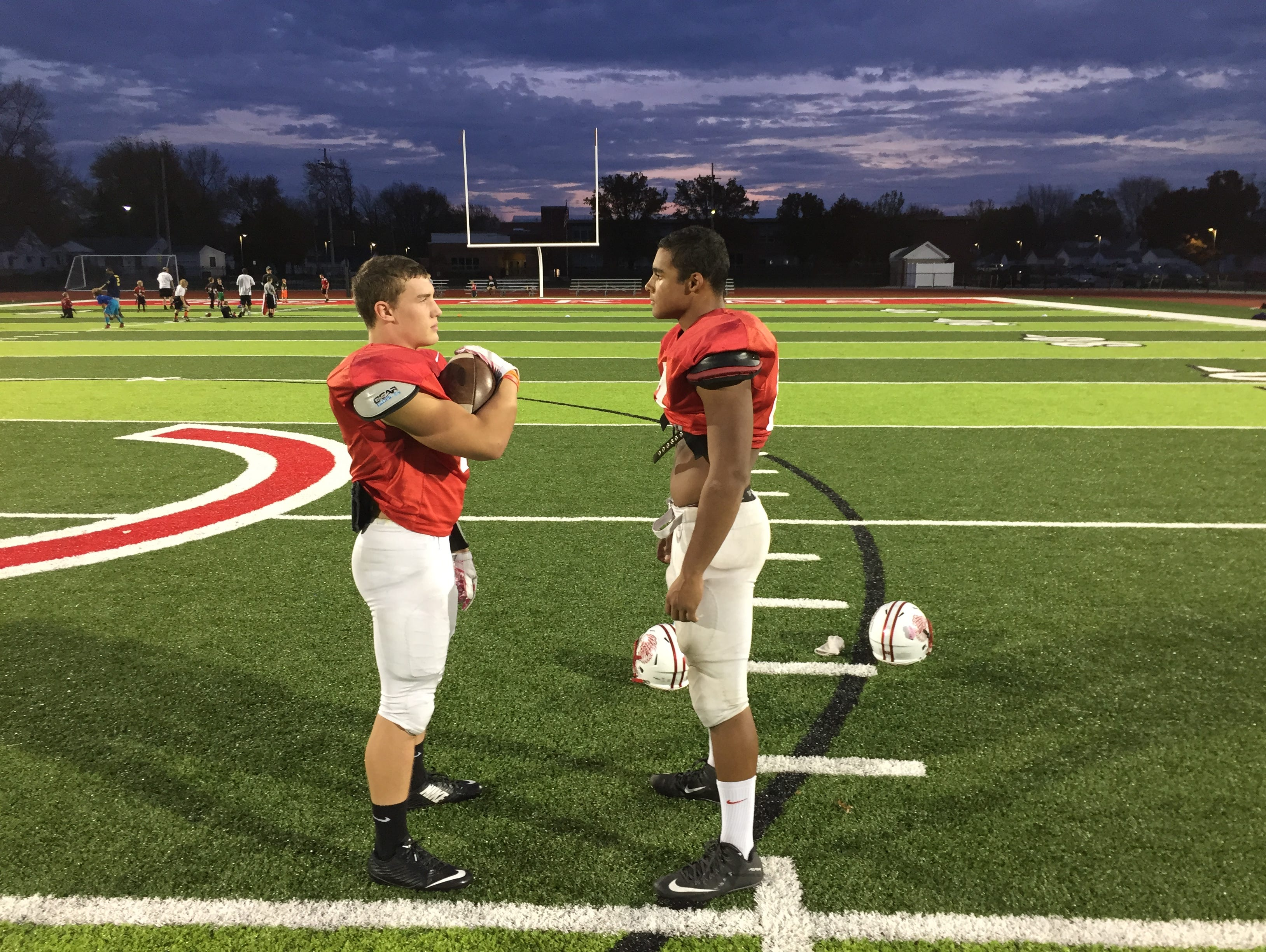Port Clinton's Emerson Lowe, left, and Russel DeMarco, right, are the News Herald's offensive and defensive players of the year, respectively.