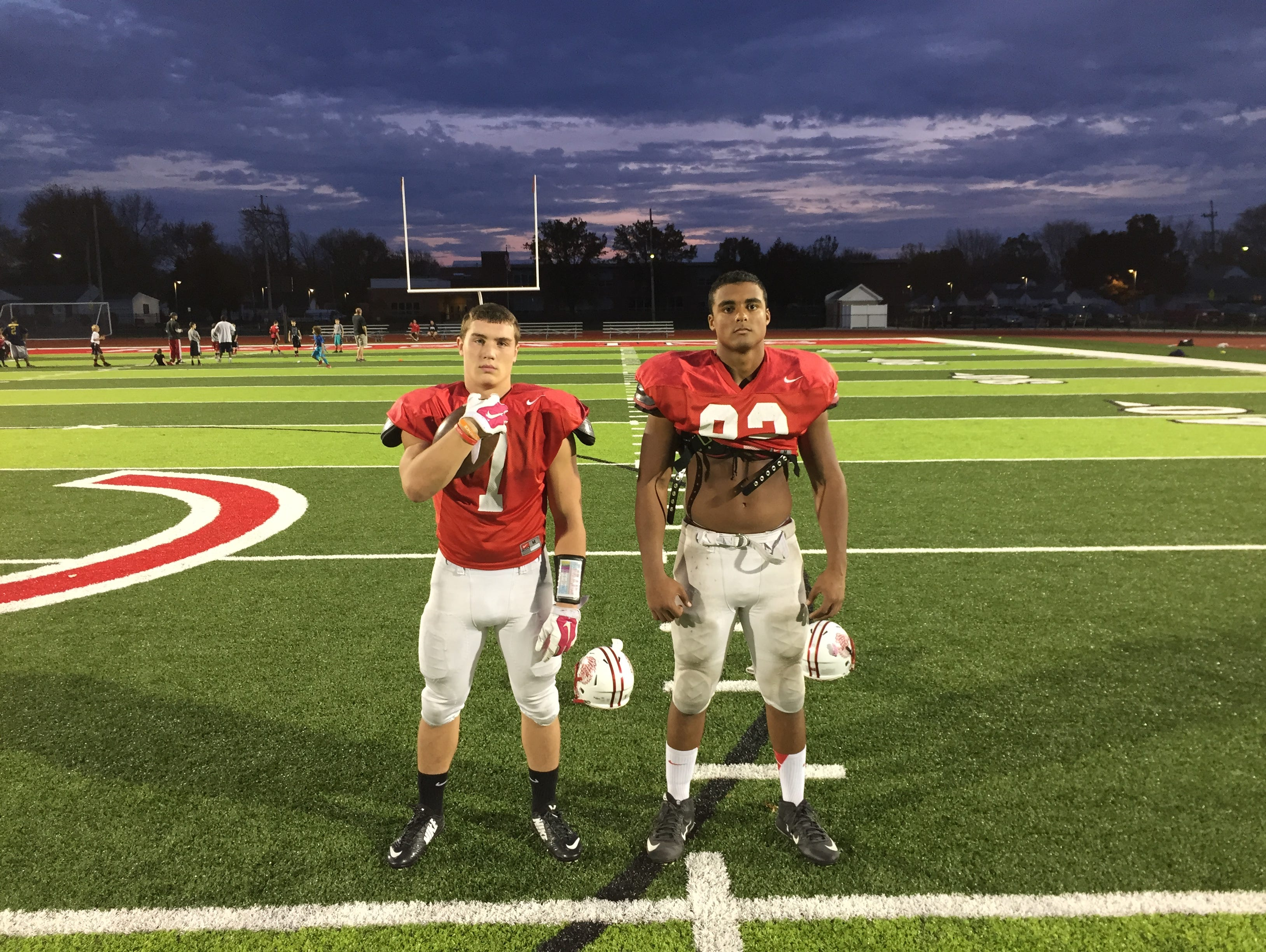 Port Clinton's Emerson Lowe, left, and Russel DeMarco are the News Herald's offensive and defensive players of the year, respectively.