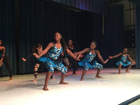 """""""Stars in Motion,"""" students from Apalachee Tapestry Magnet School of the Arts, perform during a family engagement event Monday night."""