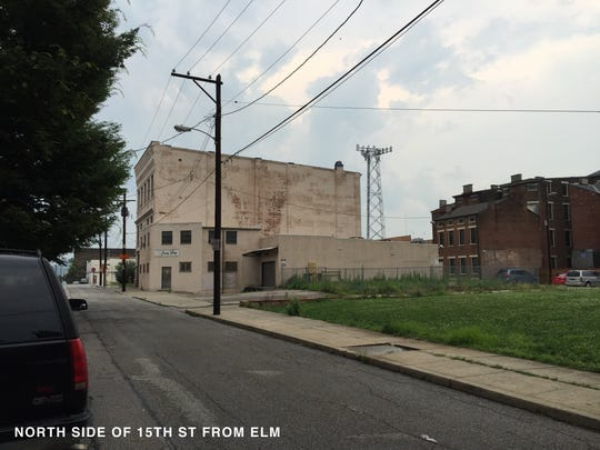 A view of the proposed project along 15th Street as