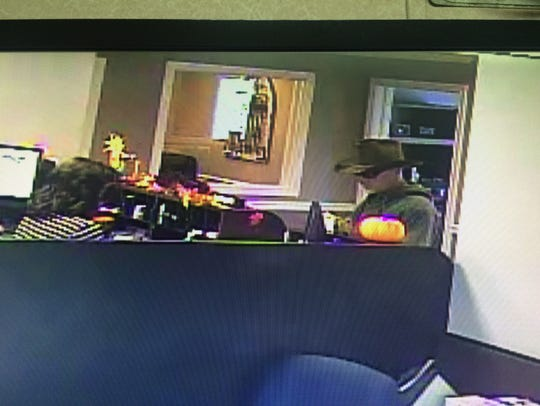 Cumberland Bank and Trust robbery suspect.
