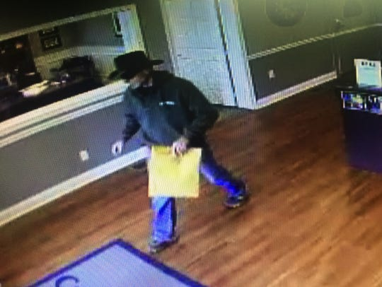 Cumberland Bank and Trust robber suspect.