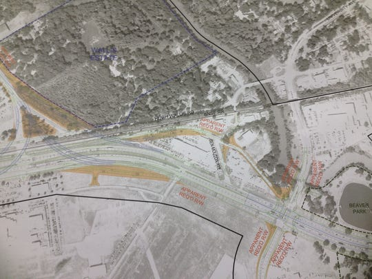 Rendering of proposed I-49 Connector between Kaliste Saloom Road and University Avenue.