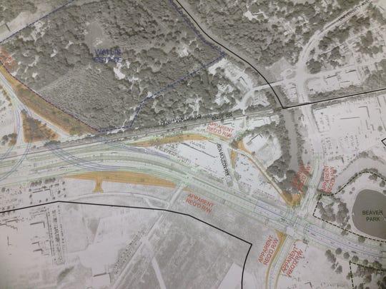 Rendering of proposed I-49 Connector between Kaliste