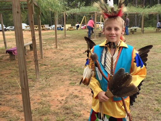 """Jayden Wilson, 11, fancy dances for his family and """"because it's fun"""""""