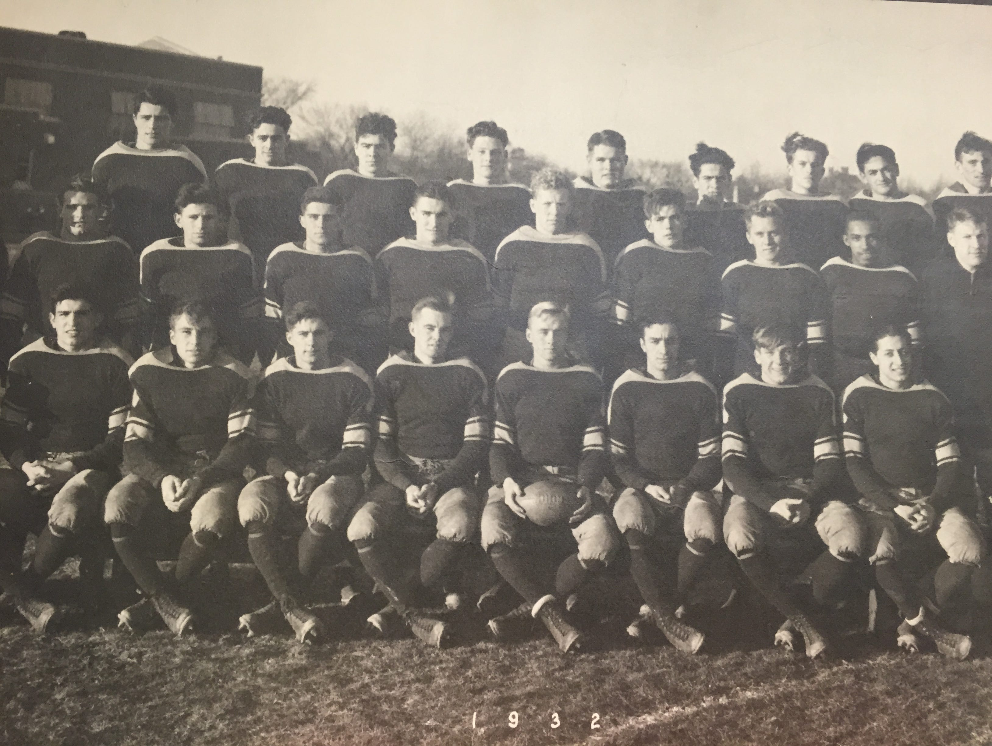 Photo of the 1932 Long Branch team, which featured the grandfather of current Long Branch head coach Dan George.