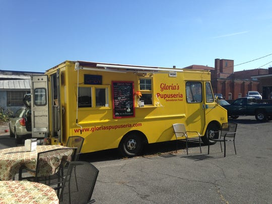 The food truck Gloria's Pupuseria has opened up in