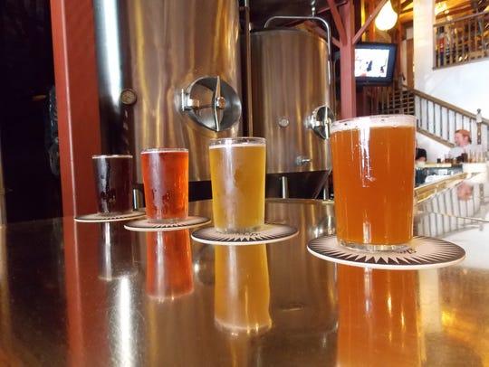 Different beer samplings