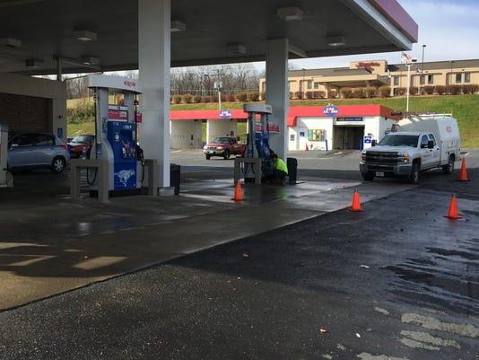 Gas station leak