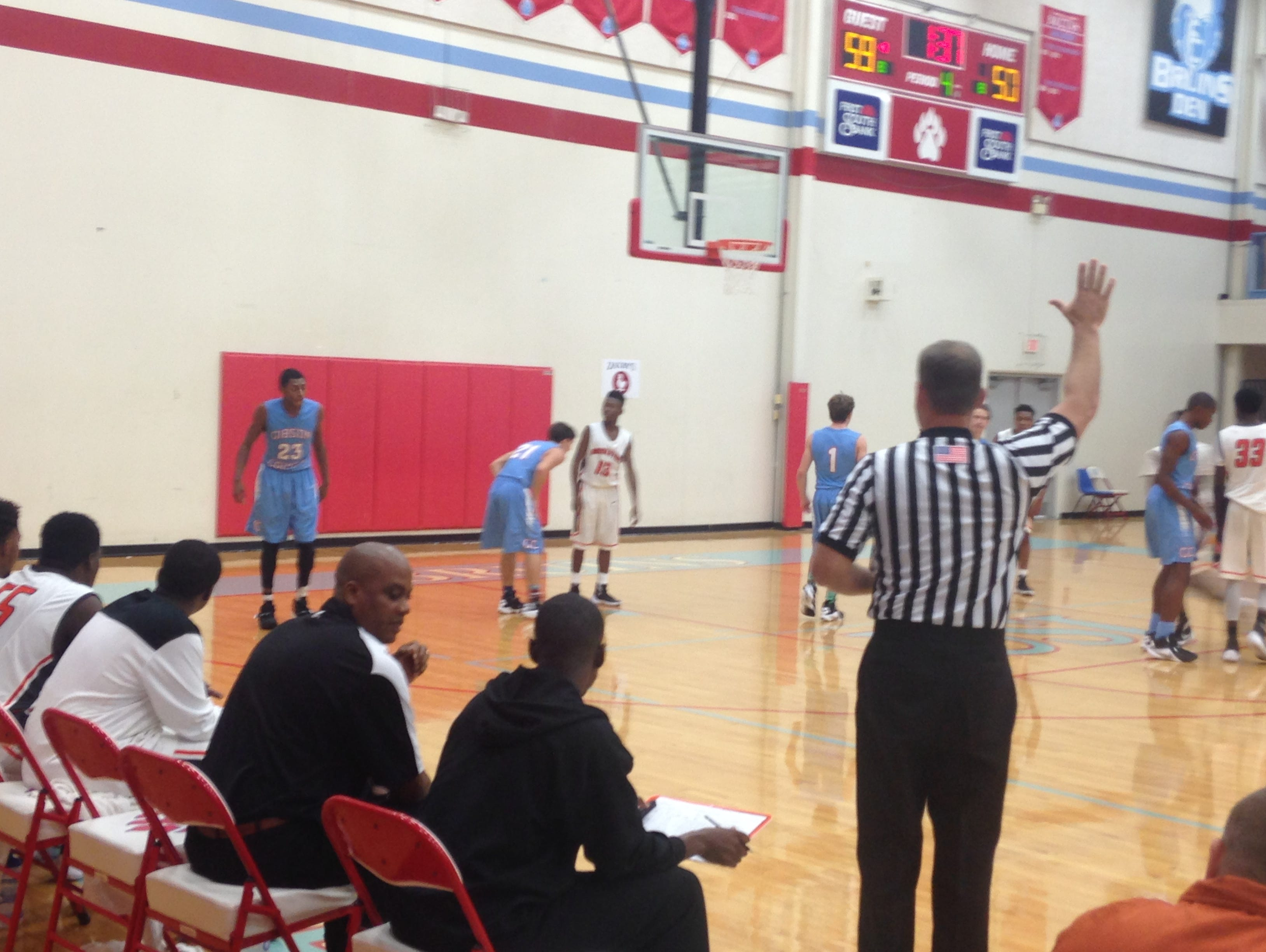 Gibson County beat Middleton 66-62 in the Zaxby's Thanksgiving Tournament on Friday.