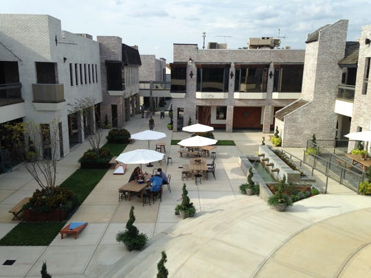 Highland Village's renovated courtyard will be a community