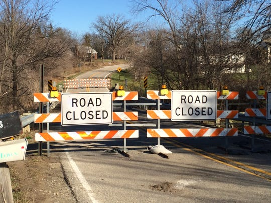 A portion of North Eager Road is closed indefinitely