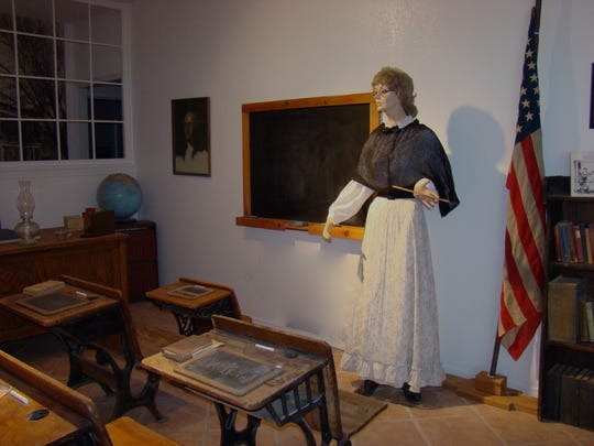 This Carrizozo Heritage Museum classroom exhibit shows