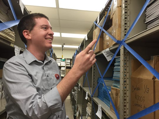 Assistant librarian Matt Gray has documented the music by linear feet in preparation for the move.