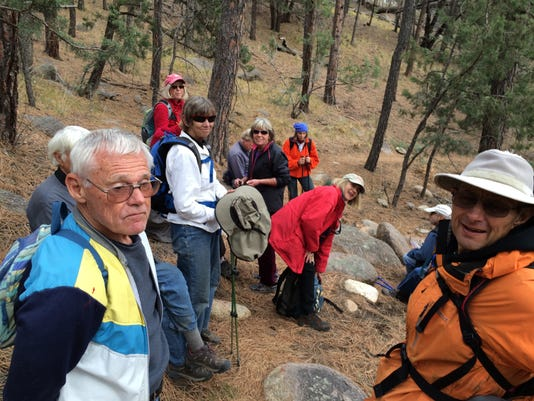 Hiking Group Takes a Breather