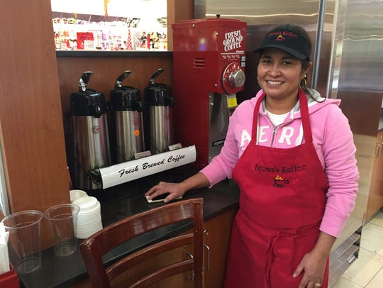 Cristina Brown, pictured above, is the owner of the