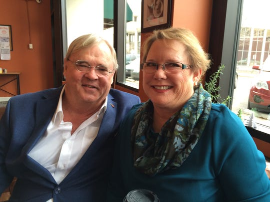 Tom and Pam Price, who survived a devastating house