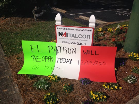 El Patron will reopen at 5 p.m. Wednesday after a shooting