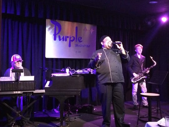 Barry Minniefield cooks and performs on Dec. 8 at Purple Room for Foodie Tuesday.