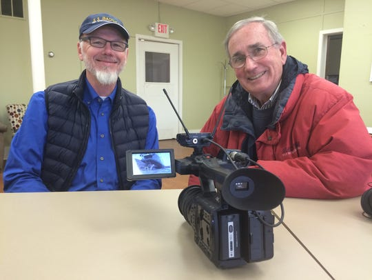 Dr. Steve Dryden and Ken Nelson visited Sturgeon Bay
