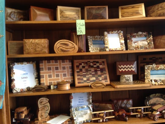 Wrightsville resident Steve Webb's wood creations are sold at Collage at Colonial Shopping Center in Spring Garden Township.