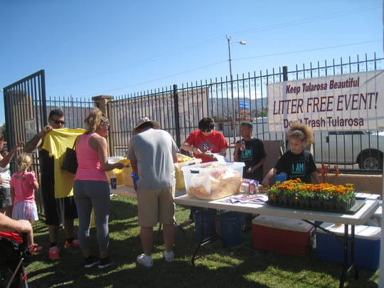 Tularosa residents participating in the Tularosa Earth Day Fair.