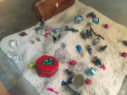 A sensory table in a toddler room at the Montessori