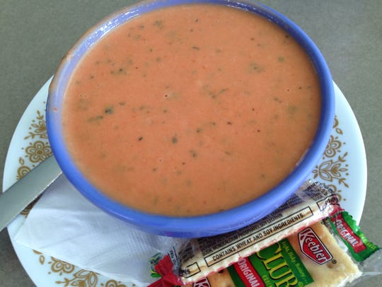 Tomato basil soup at Dolly's Produce Patch and Eatery